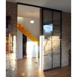 с раздвижной дверью лофт перегородка 3