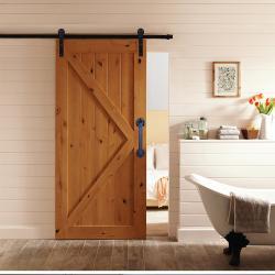 Амбарная дверь 7 Сосна с покрытием