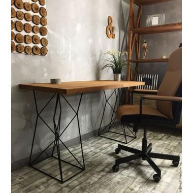 Стол из металла и дерева стиль LOFT